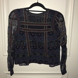 Tops - Embroider long sleeve top